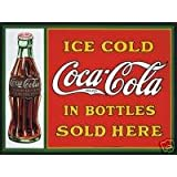 S1865 SMALL ICE COLD COCA COLA IN BOTTLES SOLD HERE METAL ADVERTISING WALL SIGN RETRO ART by SIGNS 2 ALL LTD