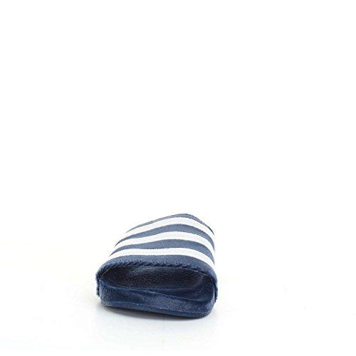 adidas Adilette - Chanclas Hombre Azul (Mystery Blue/footwear White/footwear White)