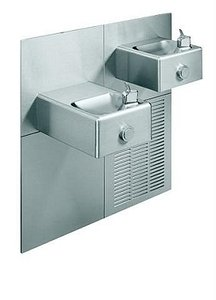(Oasis M8SCPM - Modular, Refrigerated Drinking Fountain, Bi-Level, Mechanical Push Button, ADA, 8 GPH)