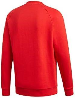 adidas Originals Crewneck Herren 3-Stripes Crew ED6017 Rot, Größe:L