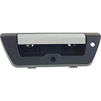 Ford F150 Black Outside Rear Replacement Tailgate Handle With Chrome Lever