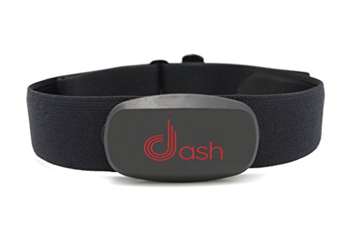 Dash Bluetooth Heart Rate Monitor Chest Strap & Health Sensor for iPhone or Android. Tracks HR Zones & Calories Burned…