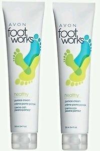 Foot Avon - Foot Works Healthy Pumice Creams - 100ml 3.4 fl oz.(Pack of 2)