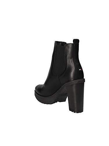 Noir Hilfiger Boots En0en00244 Talons À Femmes Tommy nYTBdqwB0