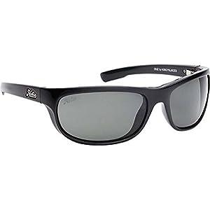 Hobie Cruz-000008 Polarized Rectangular Sunglasses,Shiny Black,64 mm