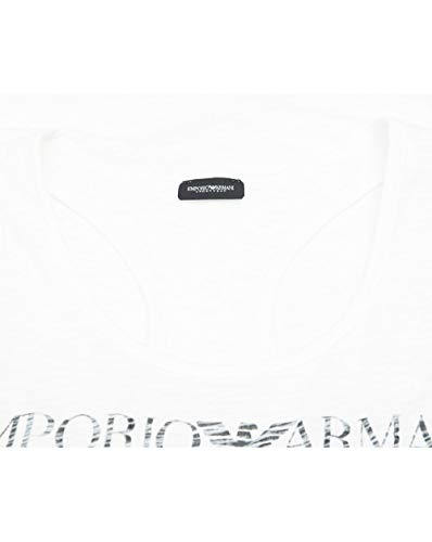 Logo Emporio White Faded Armani Vest ZTnWOqp1g