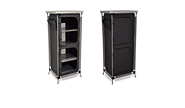 Mueble armario con 4 estantes plegable, ideal para camping ...