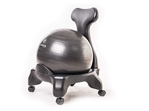 Kikka Silla Activa Negro–Silla ergonomica con Bola de Ejercicio