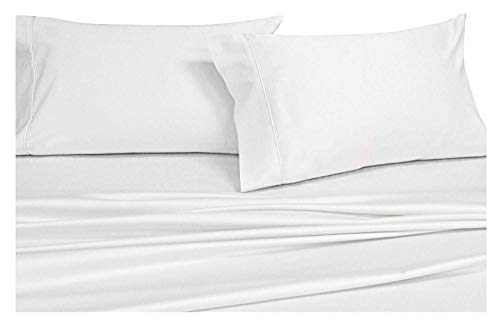 Top Split King Adjustable King Bed Sheets 4pc Solid White 100 Combed Cotton 550 Thread Count Deep Pocket