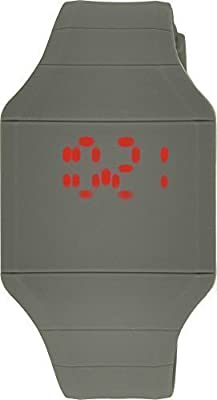 Moulin LED Touch-Activated Grey Silicone Watch with Stainless Steel Back #03088.75714