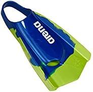 Arena Powerfin PRO Swim Training Fins, Navy/Fluorescent Green, 11-11.5