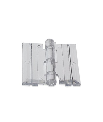 Source One 10 Pack Clear Acrylic Plexiglass Lucite Hinge ()