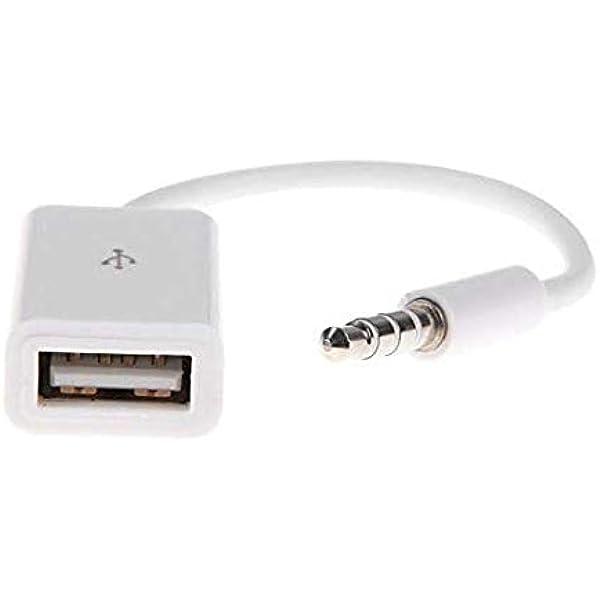 New 3.5mm Male AUX Audio Plug Jack to USB 2.0 Female Converter Adapter Plug YL