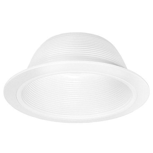 "6"" Inch White Baffle Recessed Can Light Trim Replaces Halo 310 W Juno 24W-WH - 48 Pack by Four-Bros Lighting (Image #1)"