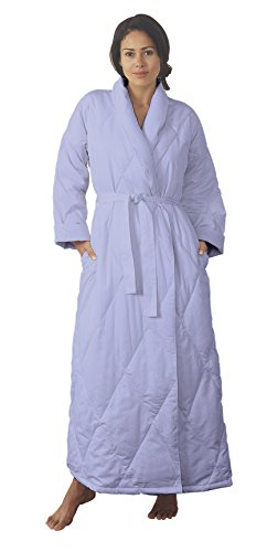 Warm Things Quilted Down Robe Bluette Small (8-10)