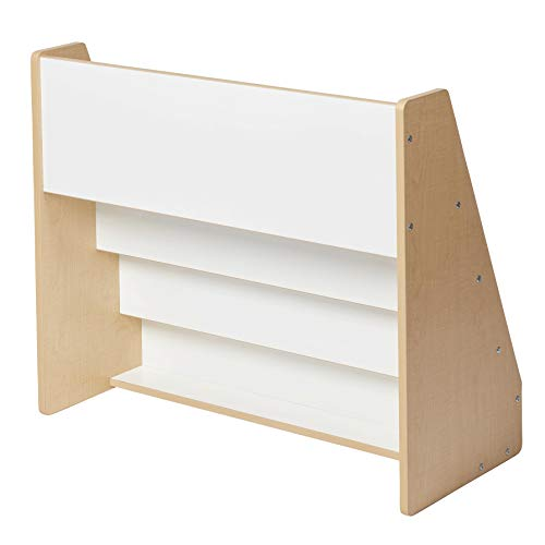 ECR4Kids Colorful Essentials 4-Tier Book Display Stand, White and Maple by ECR4Kids (Image #9)