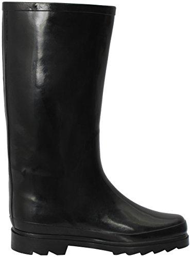 New Black pluie Women's Bottes Boots Rain Rubber de Fashion Brand fFgwqRg