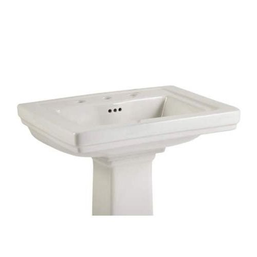 Mirabelle MIRKW348A Key West 24-38 Porcelain Pedestal Bathroom Sink Only with White