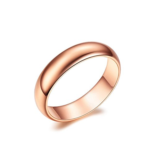 NEWBARK 18k Rose Gold Plated High Polish Plain - Twisted Wedding Ring