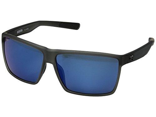 Costa Unisex Rincon Matte Smoke/Blue Mirror 580p One - Sunglasses Logo Costa