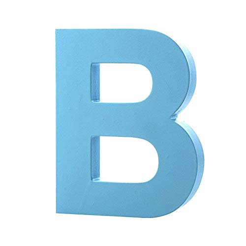 Wooden Hanging Wall Letters B - Blue Decorative Wall Letter for Children's Nursery Baby's Room, Baby Name and Girls Bedroom Décor