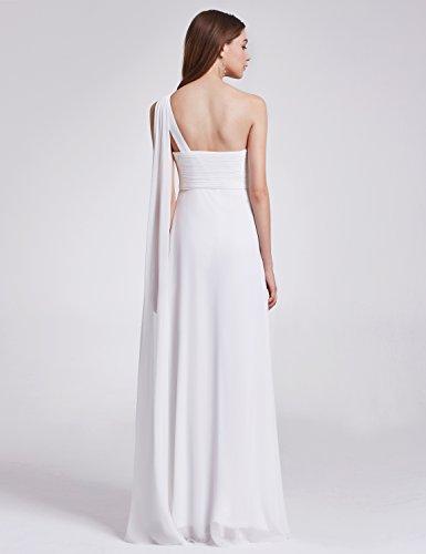 sin mangas Vestido Blanco de Ever HE09816 Pretty fiesta Mujer wqYXZ