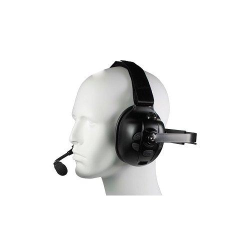 Pryme BTH-900-EMB Bluetooth Dual Ear Muff Racing Style Headset & Microphone