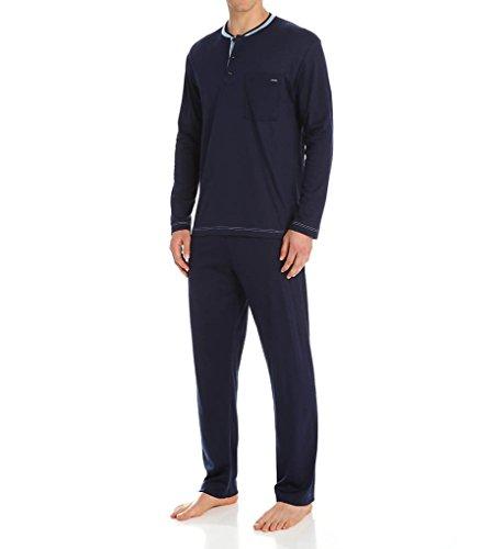 Calida Chill Out 100% Cotton Pajama Set (43162) M/Dark Blue