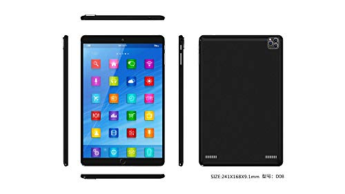 YueJinHuan 10.1 Inch Android 8.1 Quad Core Multi Touch 16GB with Dual SIM Card Support WCDMA 2G/3G Black