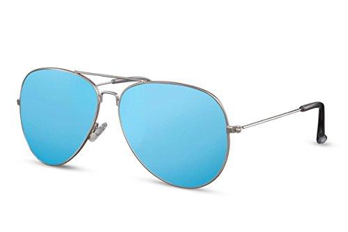 Mujeres de 014 Hombres Metálicas Plateado Sol Piloto Gafas Ca Aviador UV Gafas 400 Diseñador Cheapass Espejadas pxw44q