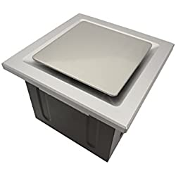 Aero Pure SBF 110 G5 S 110-CFM Super Quiet Bathroom Ventilation Fan, Energy Star Qualified, Silver with Stainless Steel Trim