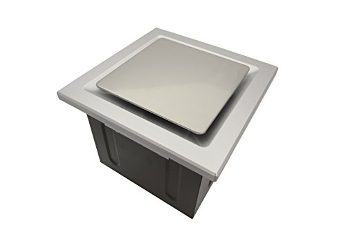 S 110-CFM Super Quiet Bathroom Ventilation Fan, Energy Star Qualified, Silver with Stainless Steel Trim (Replace Bathroom Exhaust Fan)