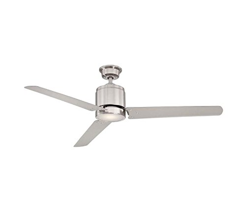 Home Decorators Collection Railey 60 in. Brushed Nickel LED Ceiling Fan W/ (60in Fan)