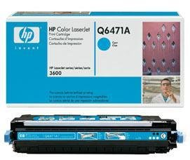 Hewlett Packard HP 502A Color Laserjet 3600 ColorSphere Smart Print Cartridge, Cyan (4,000 Yield) , Part Number Q6471A ()