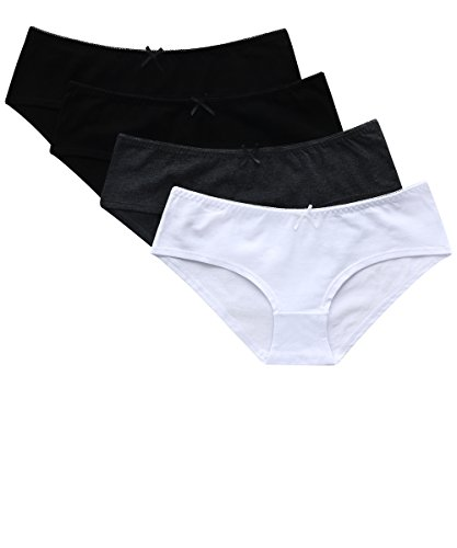 CharmLeaks Woman Hipster Underwear for Cotton Briefs Panties 4 Pack x-Large