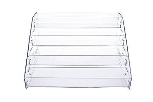 AIMEILI 4 Trays Acrylic Cosmetic & Nail Polish Display Stand Holder -