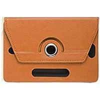 Florencinid 7 Pulgadas 8 Pulgadas Funda de Cuero 9 de 10 Pulgadas Tablet Case Equipo Tres Agujeros Universal