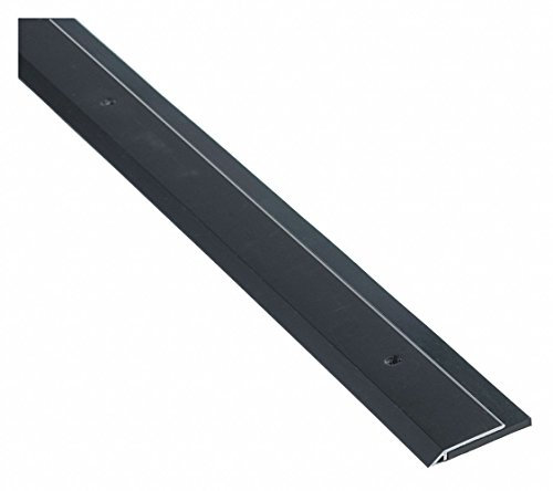 Single Fin Door Sweep, Anodized Aluminum, 4 ft. Length, 1-1/4'' Flange Height, 7/16'' Insert Size by National Guard