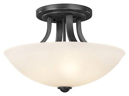 Cheap Dolan Designs 204-46 Fireside 3 Light Semi Flush mount, Warm Bronze