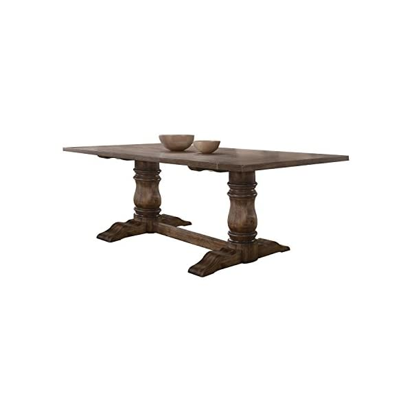 ACME Leventis Dining Table - - Weathered Oak