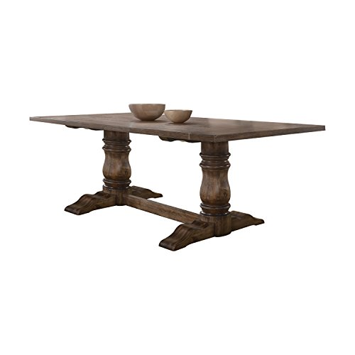 ACME Furniture  Leventis Dining Table, Weathered Oak ()
