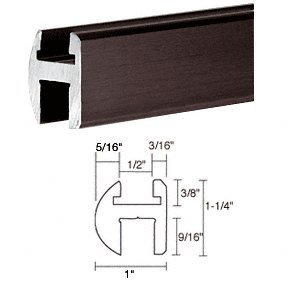 """C.R. LAURENCE SDH6600RBEXT CRL Oil Rubbed Bronze 66"""" Deluxe Shower Door Header Only"""