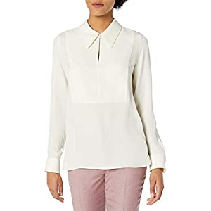 Theory Women's Yoke Popover Blouse Shirt
