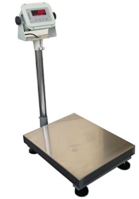 "United 400lbsx0.02lbs 14""x18"" Platform becnch Shipping Weight Digital Scale Warehouse Platform Mailing w/ indicator Industrial Bench Floor"