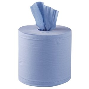 Jantex Centrefeed Blue Roll 2ply 125m 6 Pack Colour: Blue. 2-ply. 125m. Pack of 6