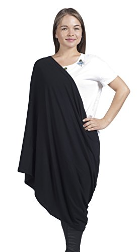 Ultra High Quality Bamboo Nursing Cover, Infinity Nursing Scarf for Breastfeeding, Black