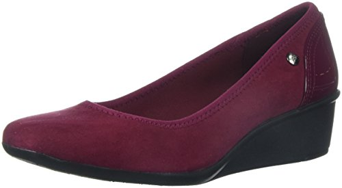 Anne Klein Womens Wisher Fabric Pump Wine Multi