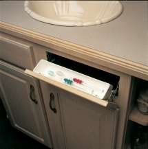 Knape & Vogt PSF11W-W Polymer 11'' Sink Front Tray with Stop, White