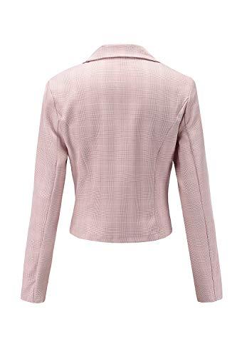 Lunga Del Outwear Donne Blazer Collare Rosa Poco Slim Le Manica Sopra nXTpq5U6