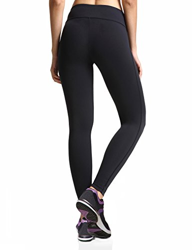 Baleaf Women's Ankle Legging Inner Pocket Non See-Through Black Size S by Baleaf (Image #2)